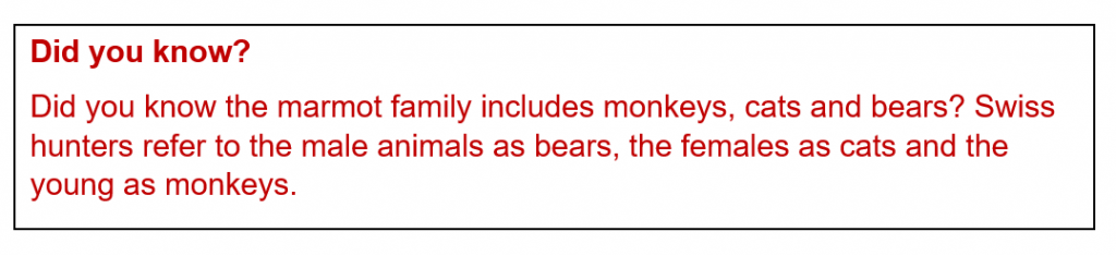 Marmot fact